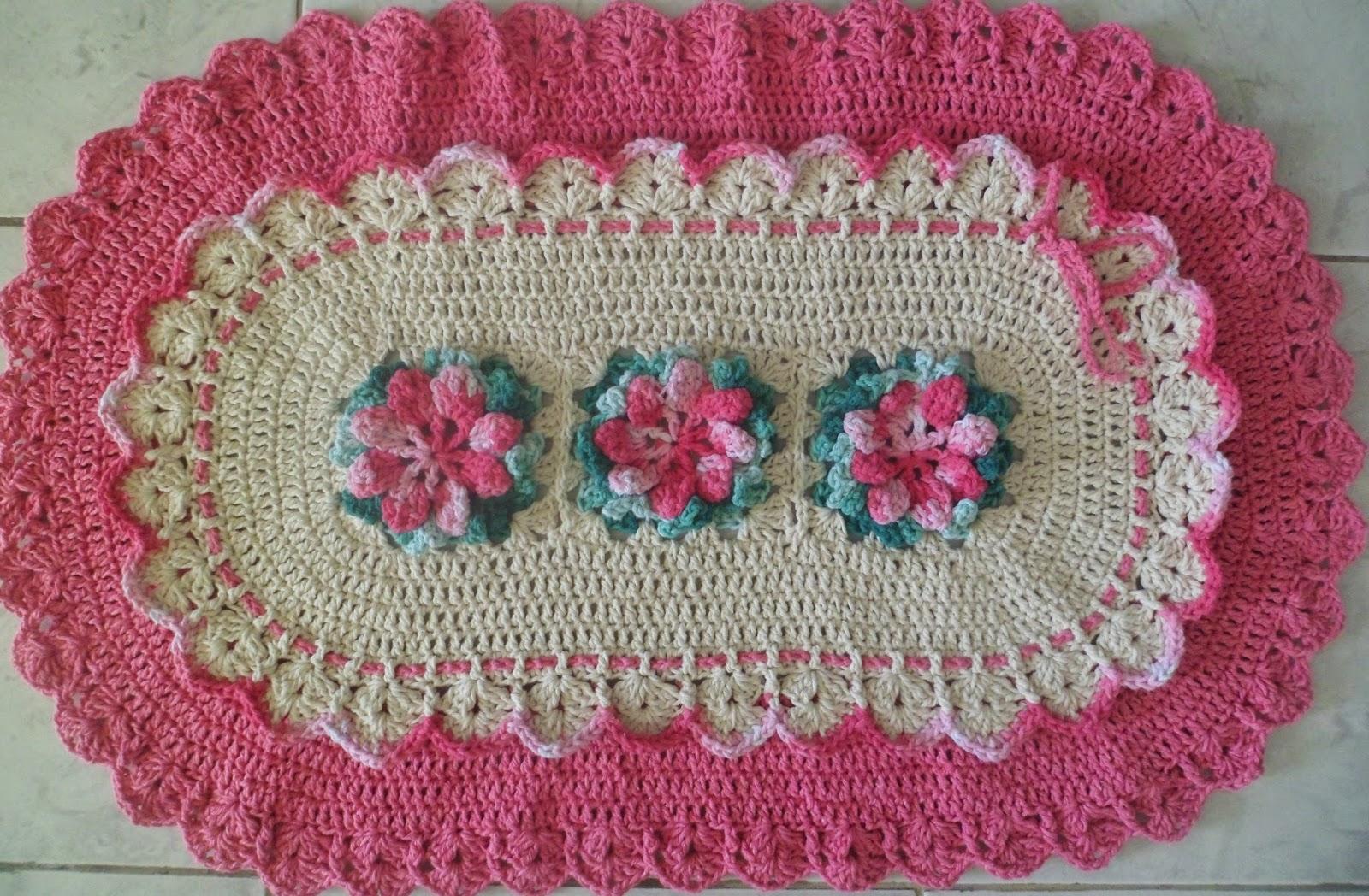 Pin Tapete Flores Croche Barbante Banheiro Decorado Genuardis Portal on Pinte # Banheiro Decorado Com Croche