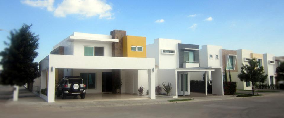 Fachadas de casas modernas fachadas de casas modernas en for Casas con terraza al frente