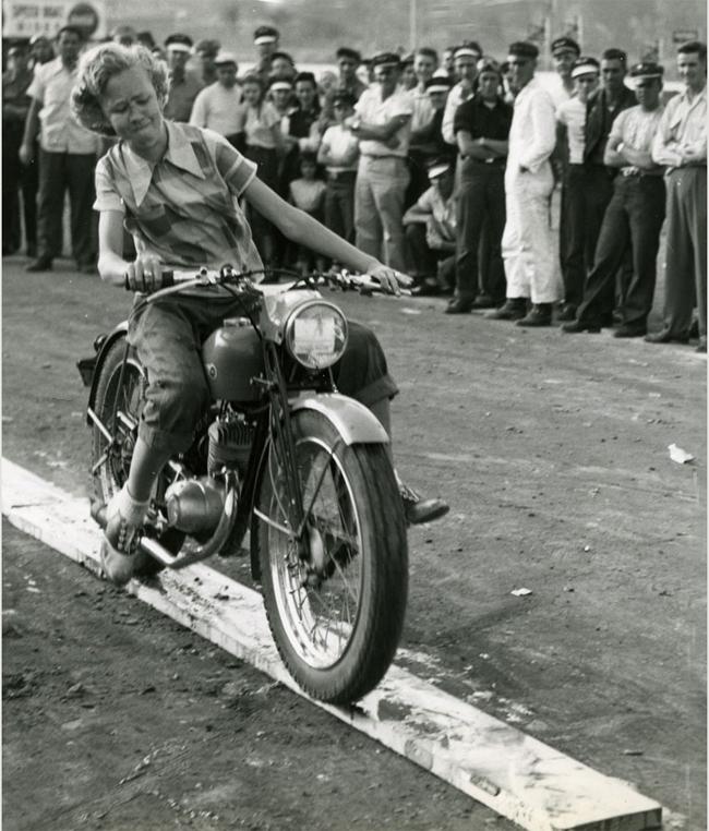 Motorcycle Rider Drinking Milk