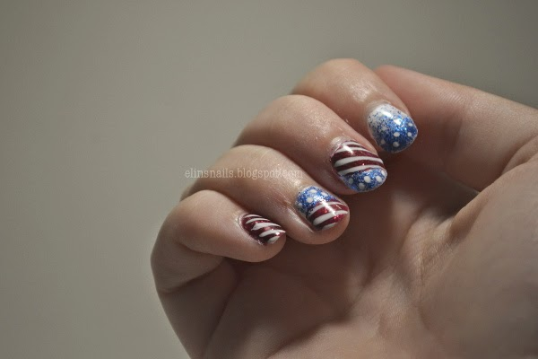 Patriotic 4th of July Nails by Elins Nails.