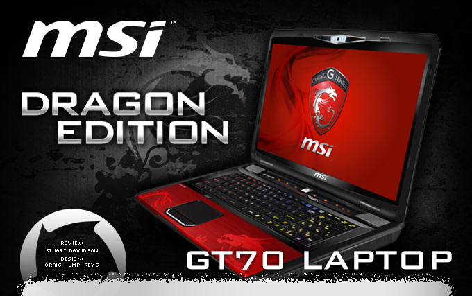 MSI GT70 Limited Dragon Edition Gaming laptop