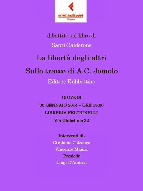 """""""LA LIBERTA' DEGLI ALTRI"""": INCONTRO-DIBATTITO CON L'AUTORE"""
