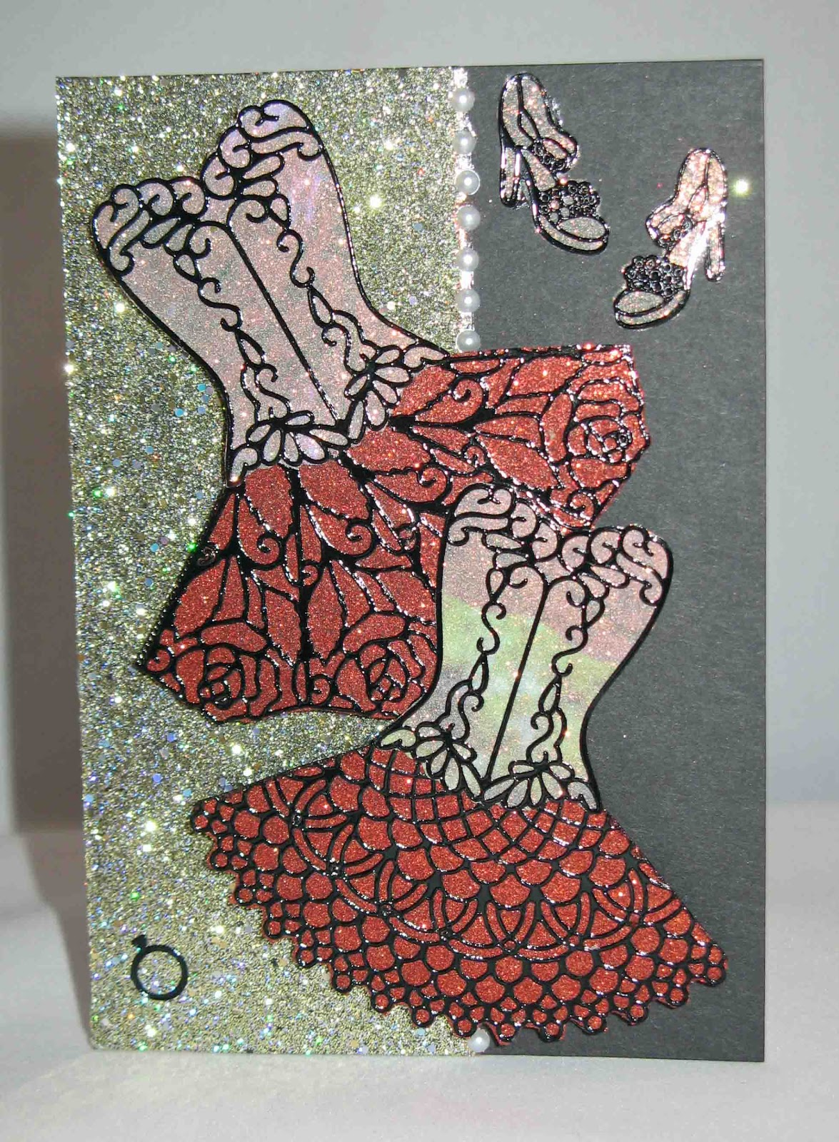 short on ideas elizabeth craft designs glitter ritz