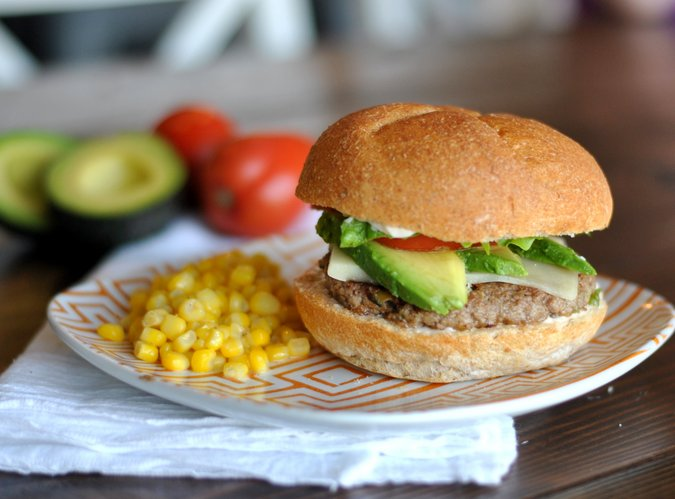 Quick and delicious, Green Chile Turkey Burgers
