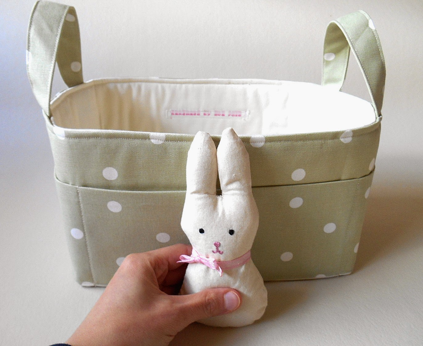 nursery storage fabric basket
