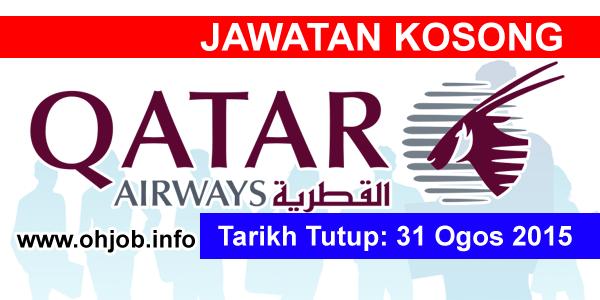 Jawatan Kerja Kosong Qatar Airways logo www.ohjob.info ogos 2015