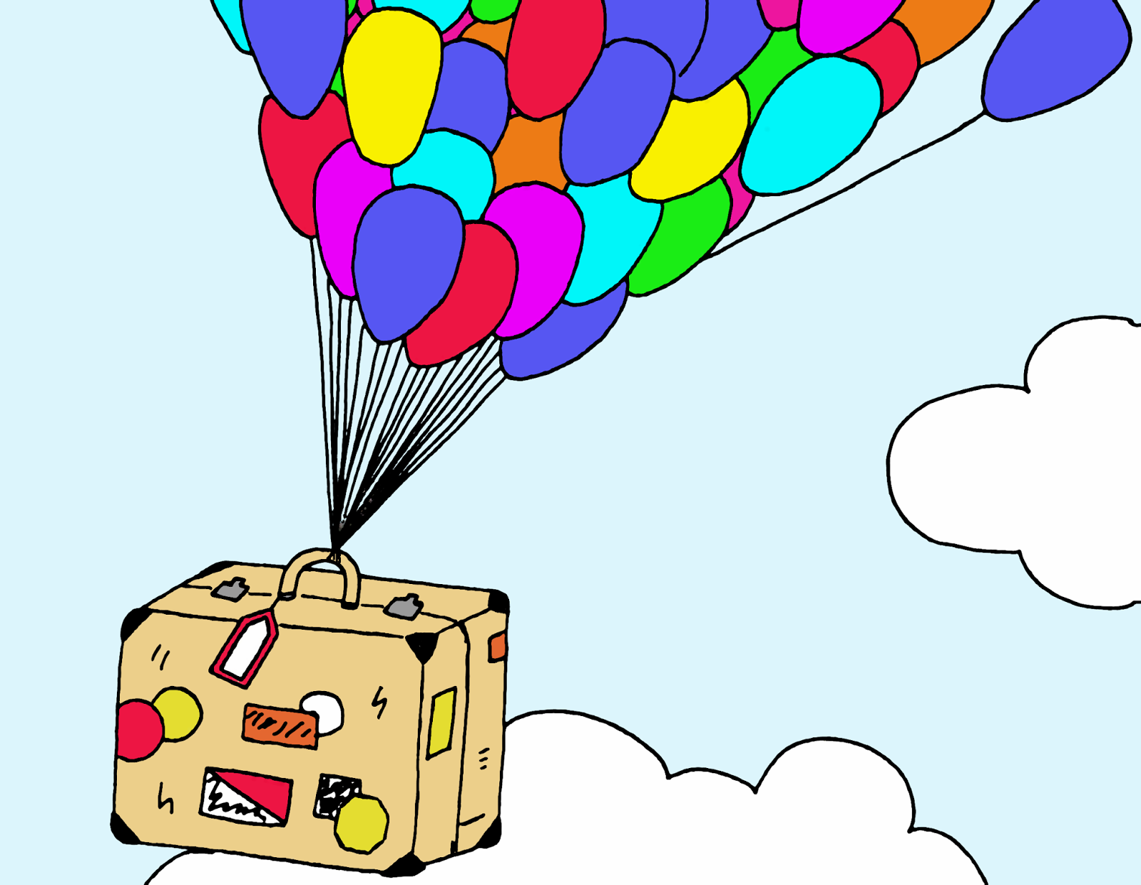 Draw on monday coloriage solidaire autour de cia - Dessin de valise ...