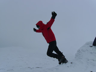 High winds on the summit of A&#39; Chailleach