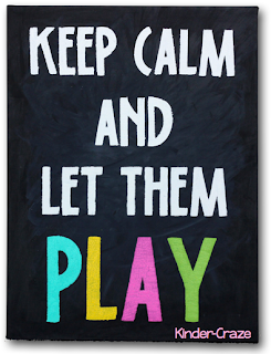 painted canvas Keep Calm sign