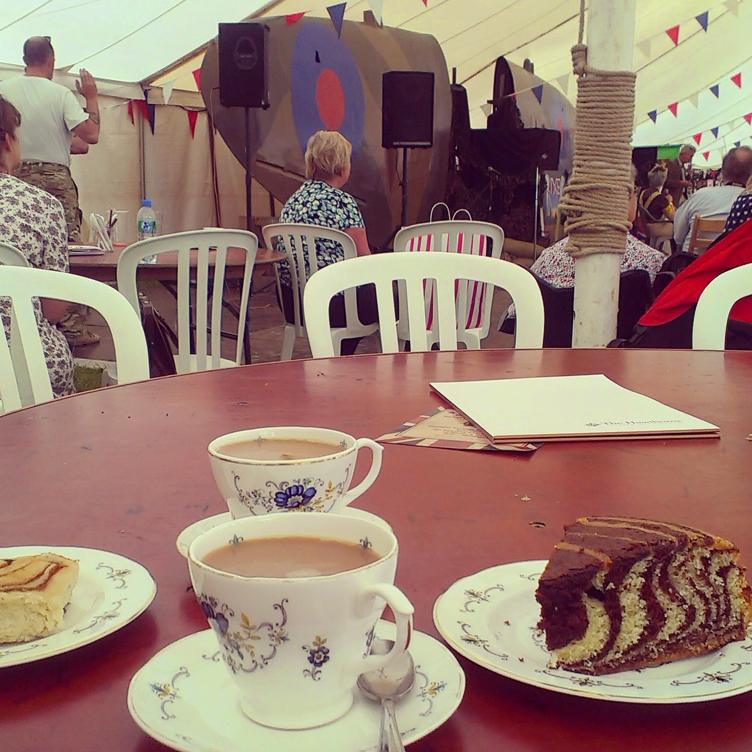 Cake and tea at the Dig for Victory show
