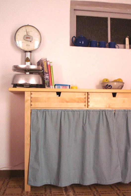 Fotos de muebles de cocina con cortinas for Cortinas para muebles de cocina