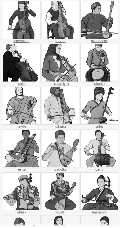 free clip art. stringed instruments bowed string instruments