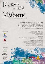 "I CURSO DE PERFECCIONAMIENTO MUSICAL E INSTRUMENTAL ""VILLA DE ALMONTE"""