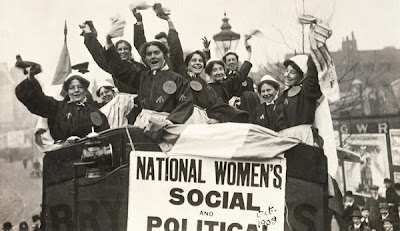 Suffragette demonstration