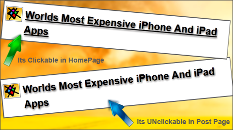 blogger post page title unclickable