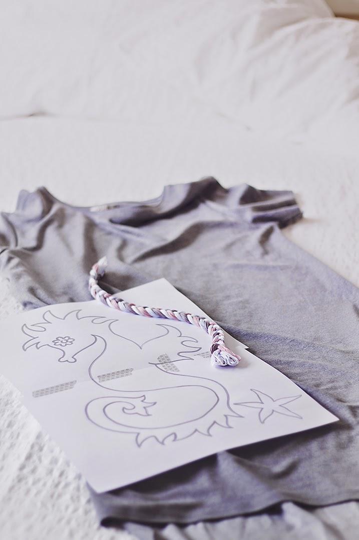 Bordado - caballito de mar - Cazadora de Inspiración © Anna Tykhonova