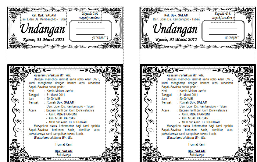Download Model Undangan