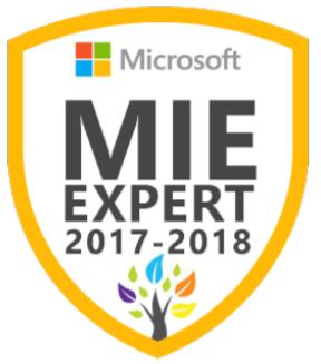 Microsoft Innovative Educator Expert MIEExpert 2017/2018