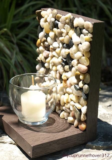 jak zrobić świecznik z kamieni eco manufaktura