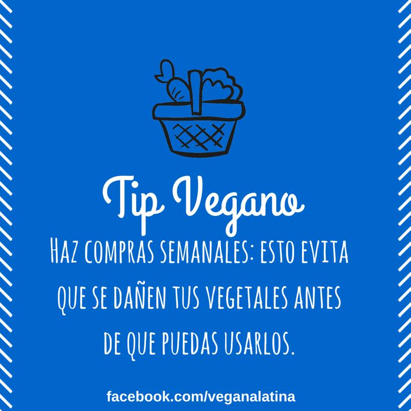 Tip Vegano: Hazo compras semanales, esto evita que se dañen tus vegetales antes de que puedas usarlos