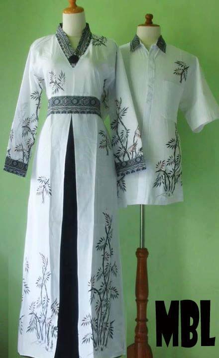 Bu lurah baju lebaran unik murah trend model terbaru Baju gamis putih murah