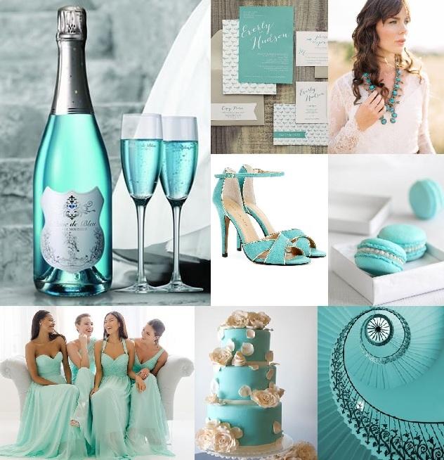 Svatby Barvy Kolaze Kolaz 746 Tiffany Blue