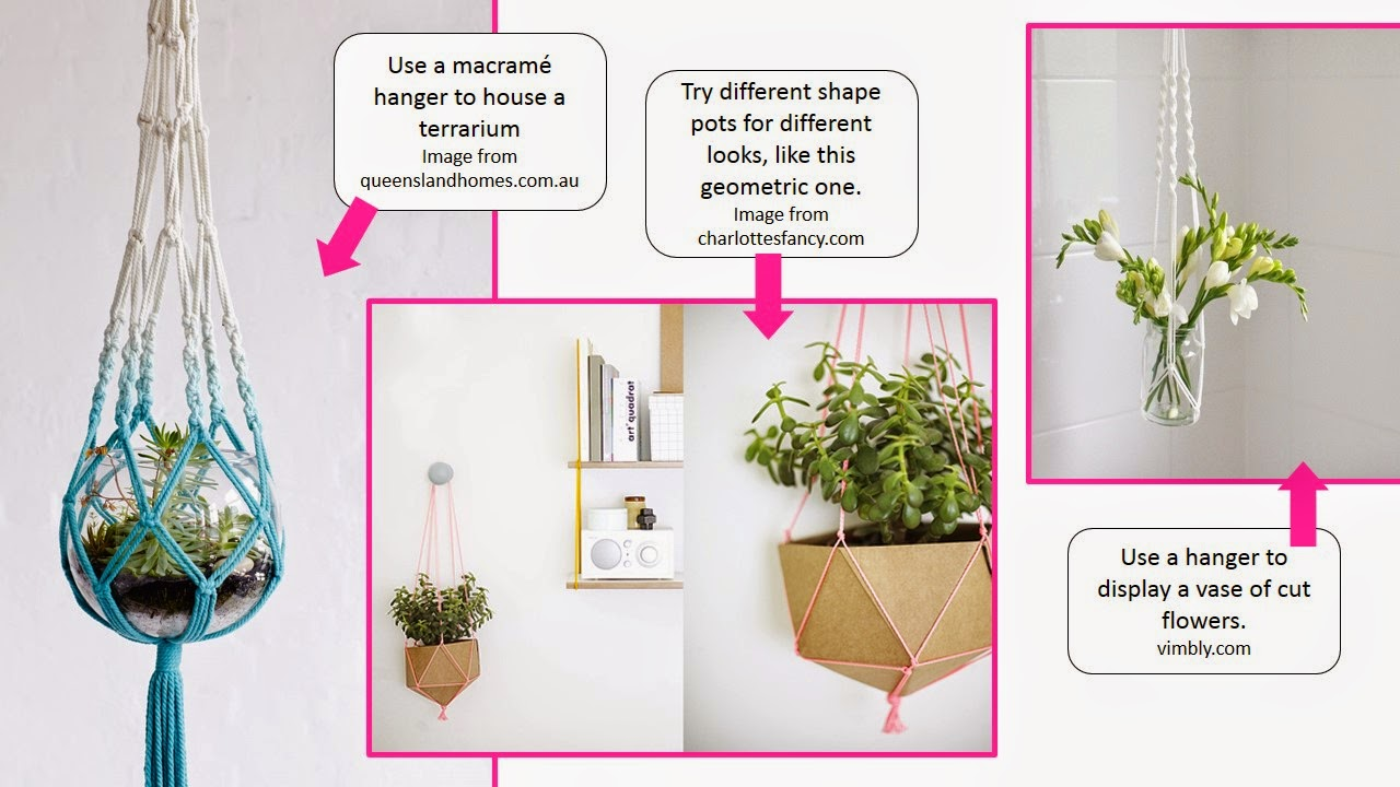 Uses for macrame hangers