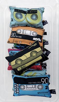 cassette tape lavender bags