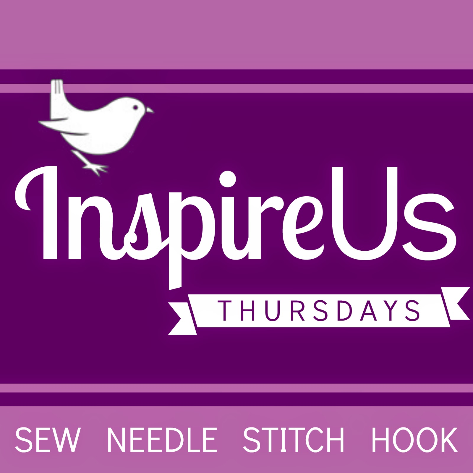Inspire Us Thursdays: Sew Needle Stitch Hook. Join us for a weekly Link Party of sewing, knitting, cross-stitch, and crochet; of fabric, yarn, and embroidery floss; all on The Inspired Wren.