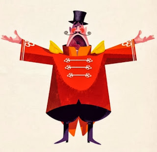 circus illustration by jonas bergstrand