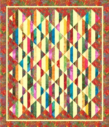 Easy Quilt With Three Fabrics : Berrima Patchwork: Hoffman Fabrics - Free Jelly Roll Pattern