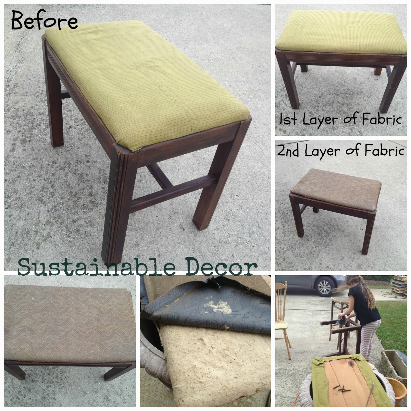 Sustainable Decor Upcycled Bench Chalk Paint Diy