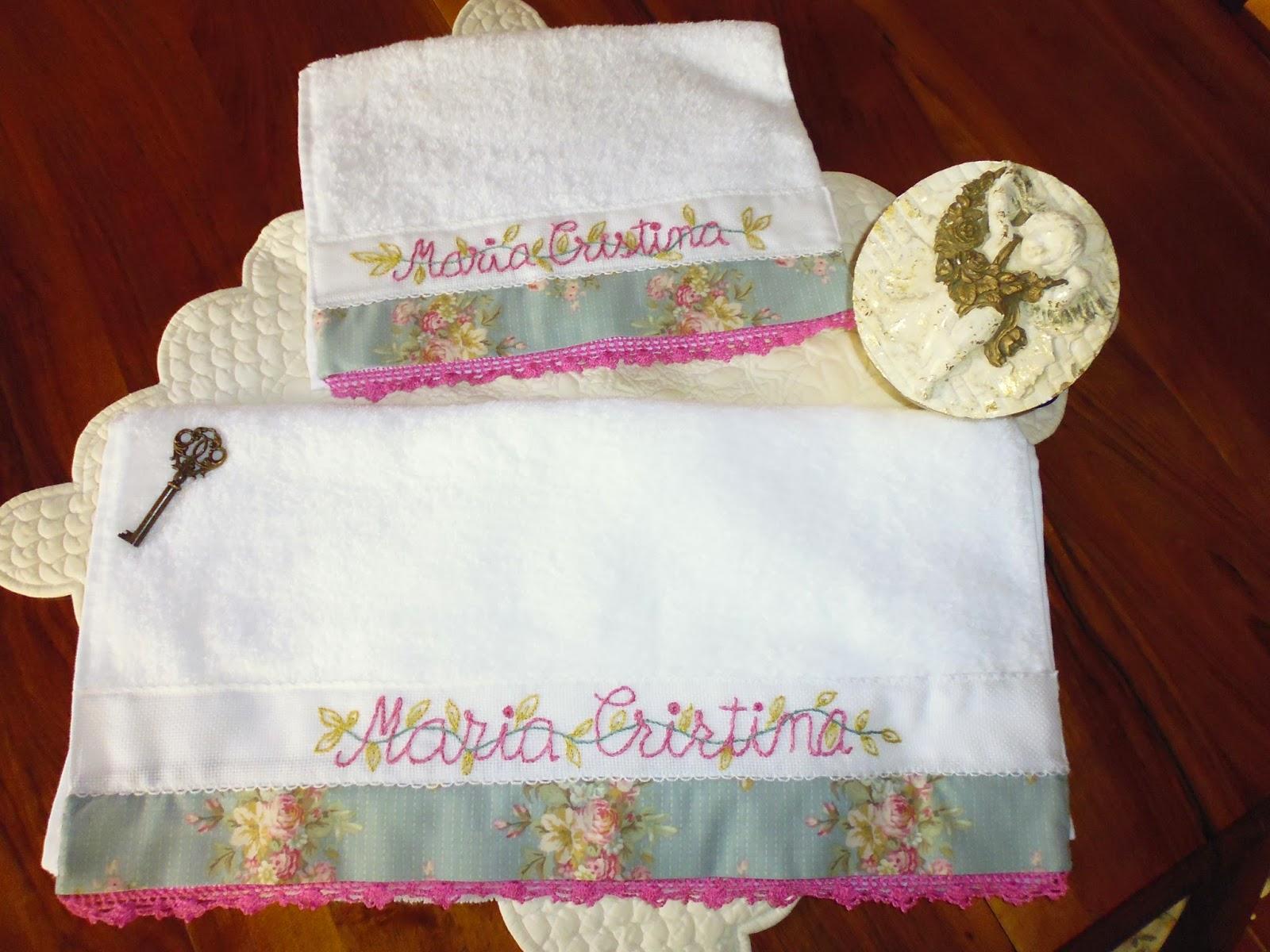 Las labores de toni toallas bordadas a mano toallas de - Decoracion con toallas ...