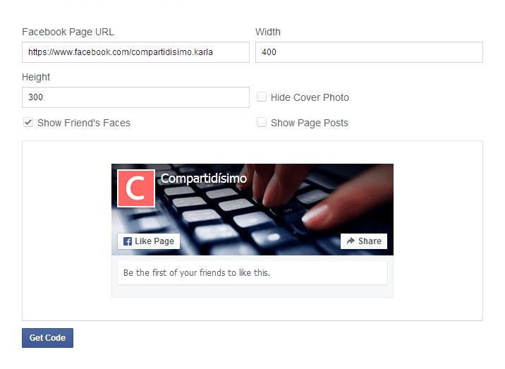 Opciones de configuracion de la nueva caja de me gusta de facebook