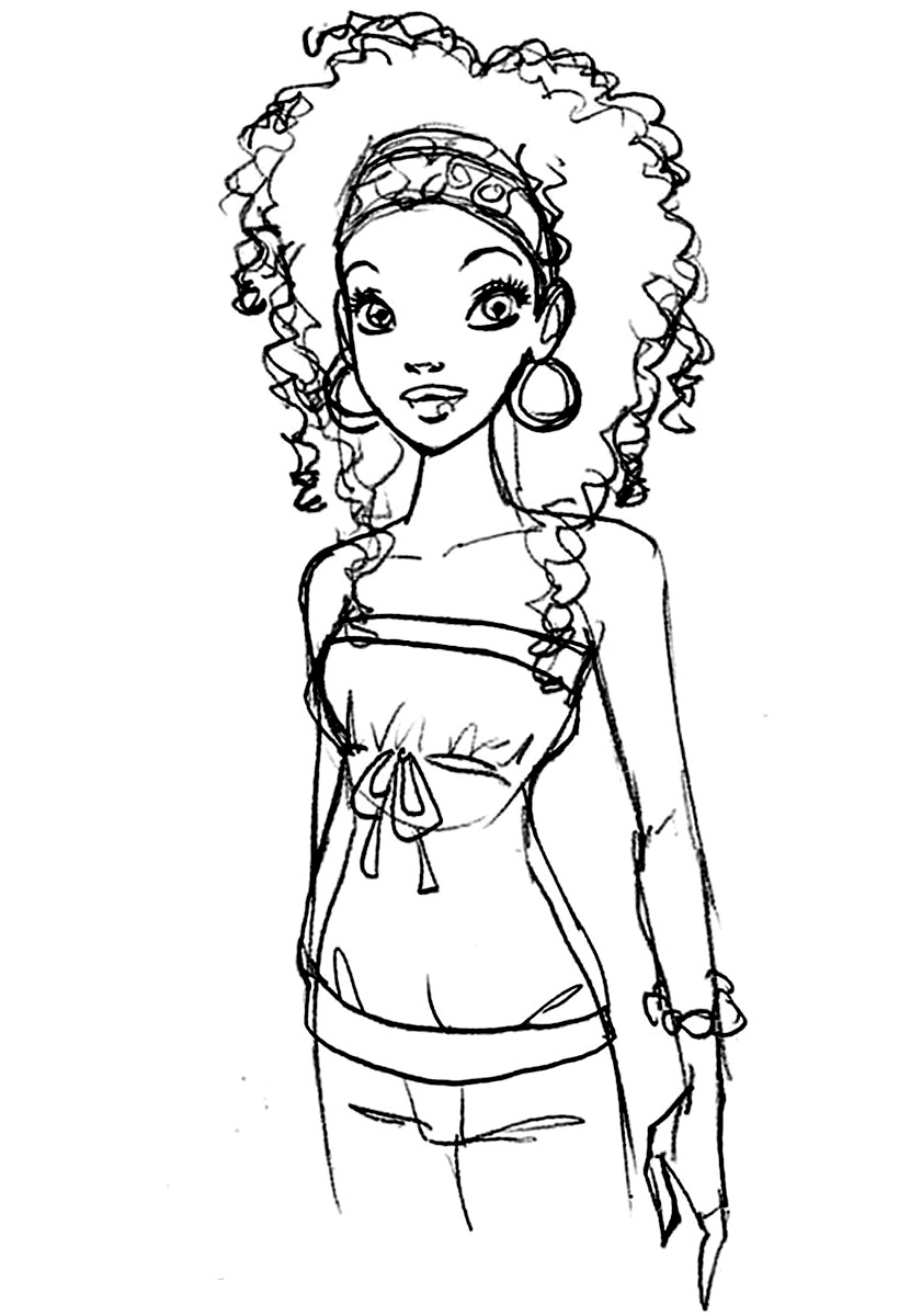 free african american coloring pages - photo#15