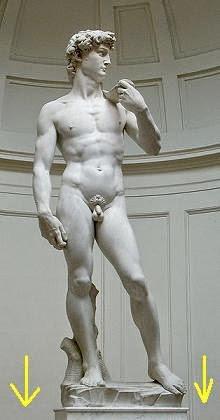 ミケランジェロ作「ダビデ」像