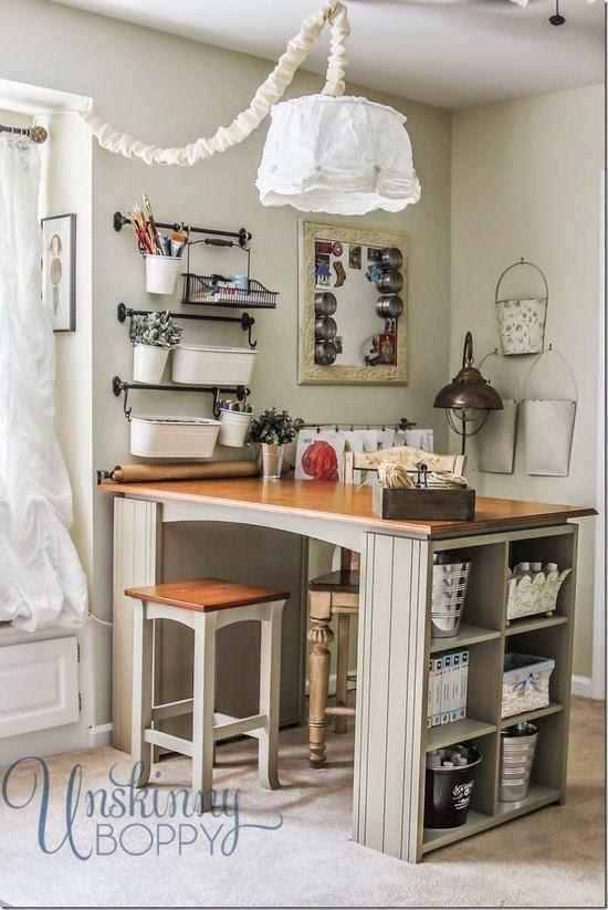 Craftroom no estilo balcão de cozinha americana