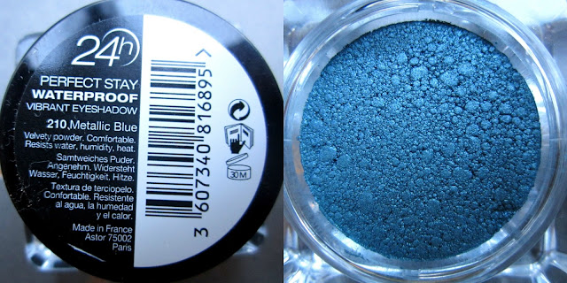 Picture of Astor 24h Perfect Stay Waterproof Vibrant Eyeshadow in 'Metallic Blue'