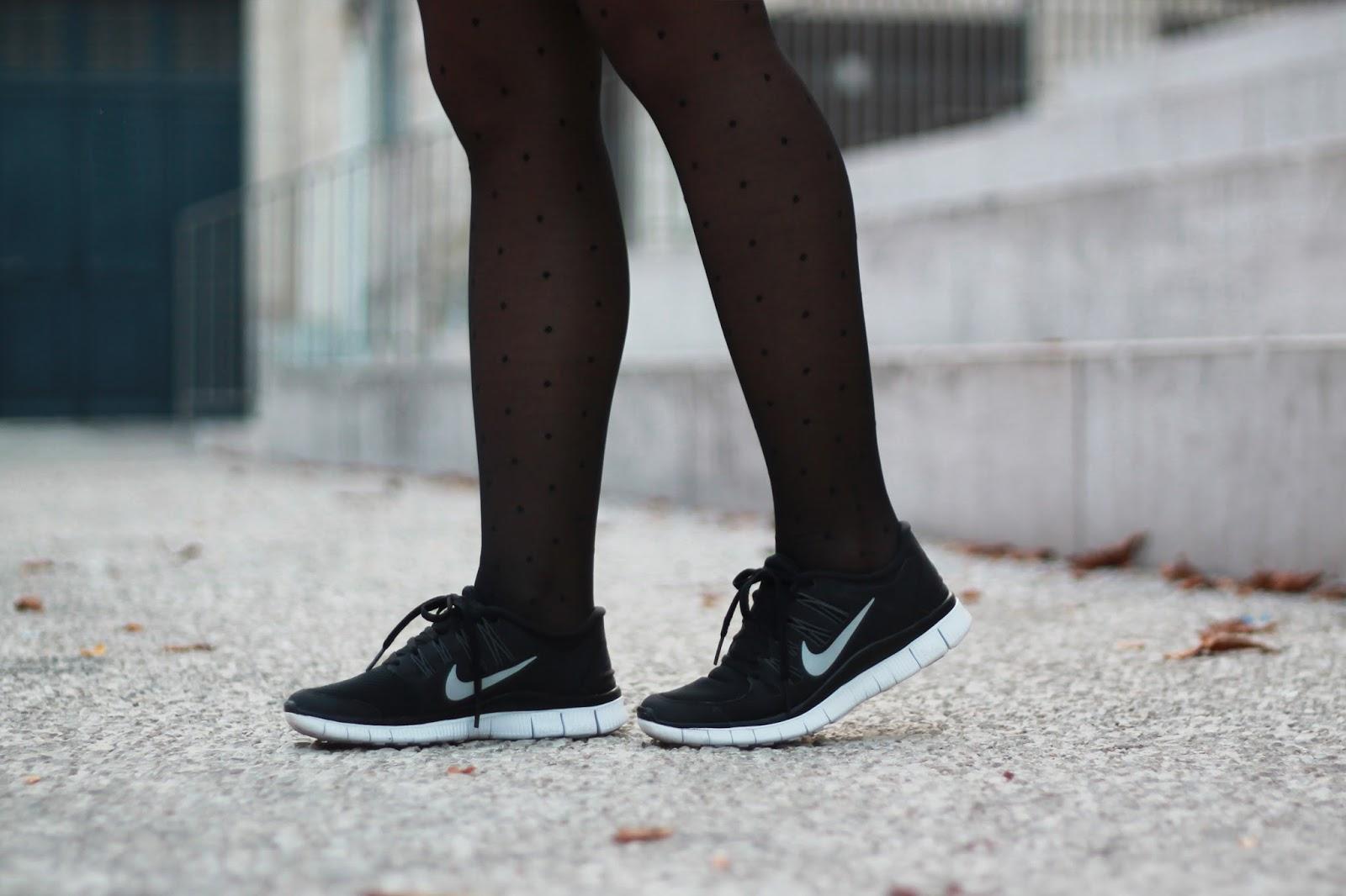 Nike free run noir blanc