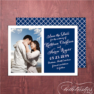printable diagonal script wedding save the date design quatrefoil pattern