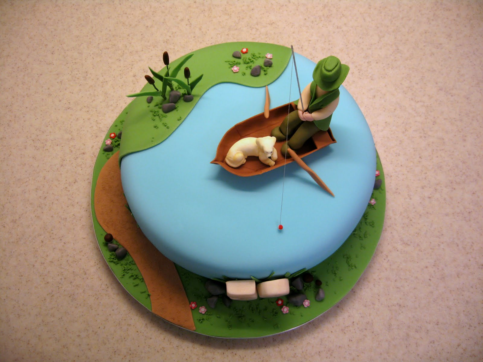 Hana rawlings cake design na ryb ch gone fishing for Fish cake design
