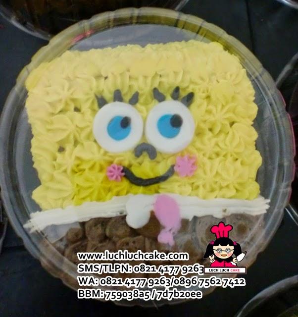 mini cake spongebob souvenir ultah