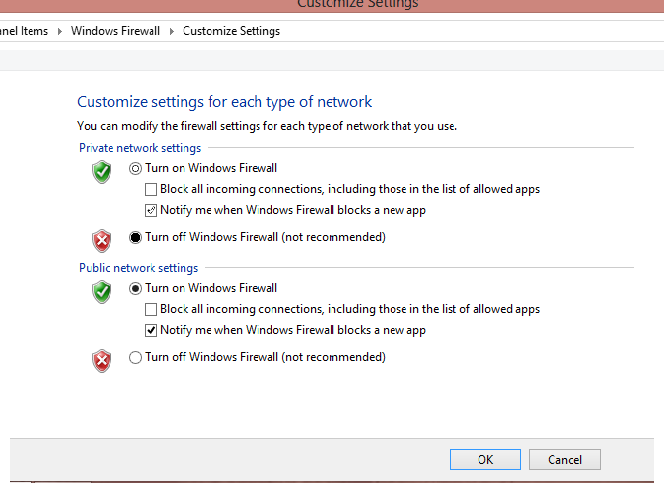 disable windows update and firewall