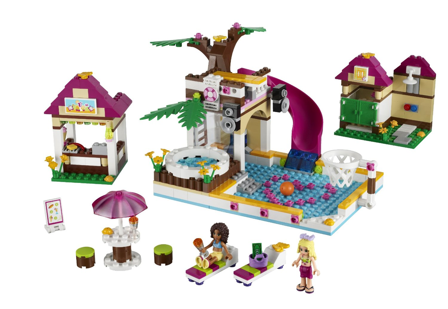 Lego friends heartlake city pool 41008 my lego style for Piscina lego friends