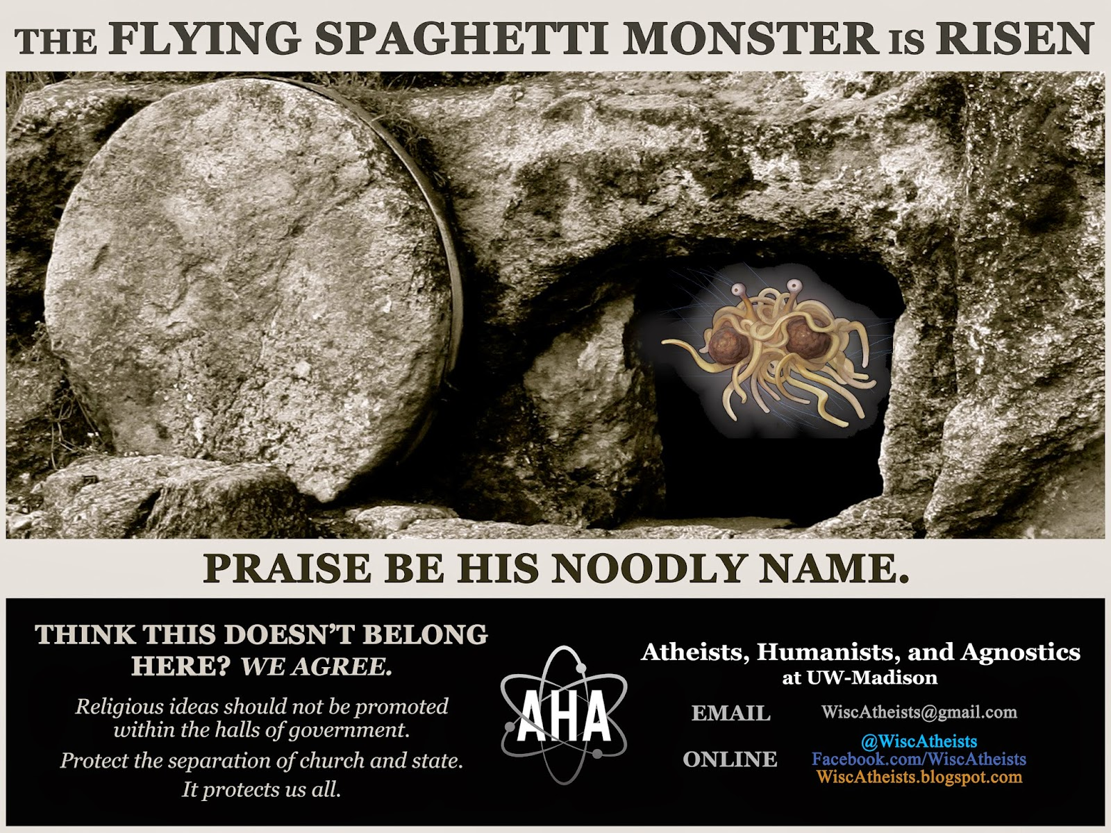 Flying Spaghetti Monster Back in Wisconsin State Capitol