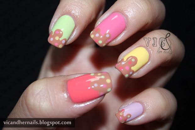 vic and nails ice cream mani