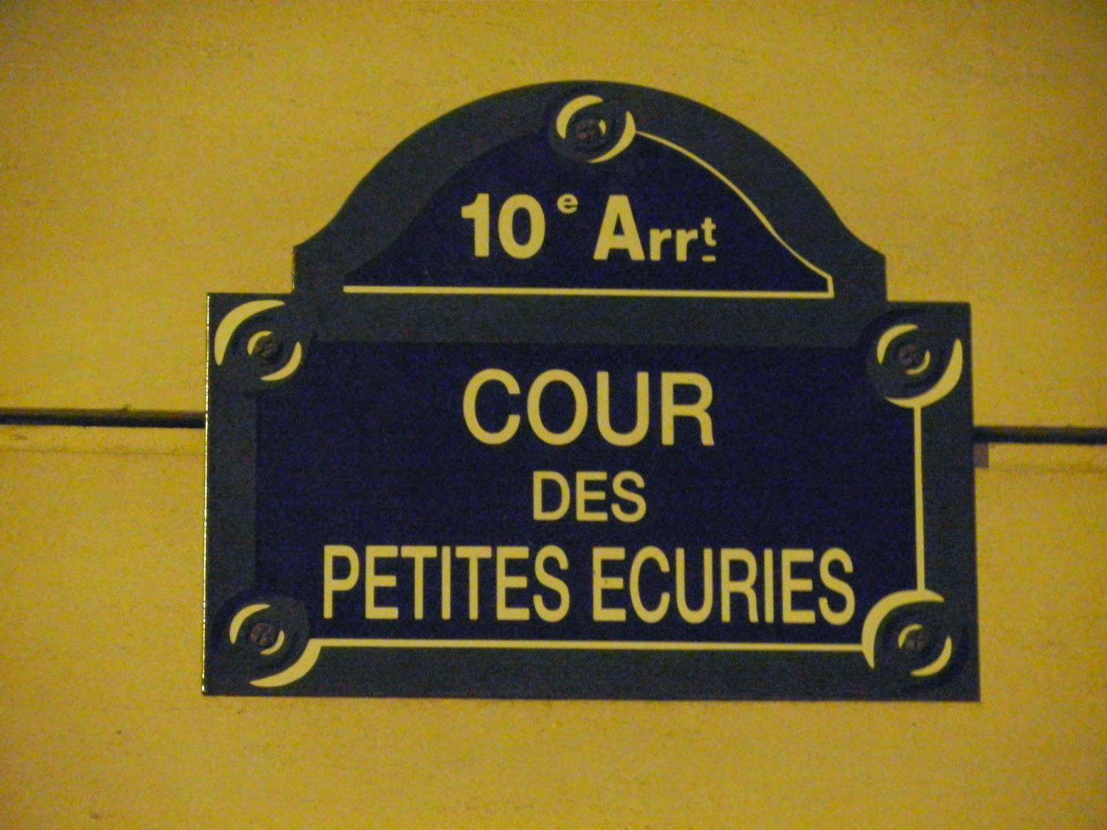Cour des Petites Ecuries; Paris
