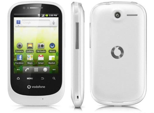 "new self-branded ""Vodafone 858 Smart"" with android ,wi-fi and 3G of Rs.4,995/-"