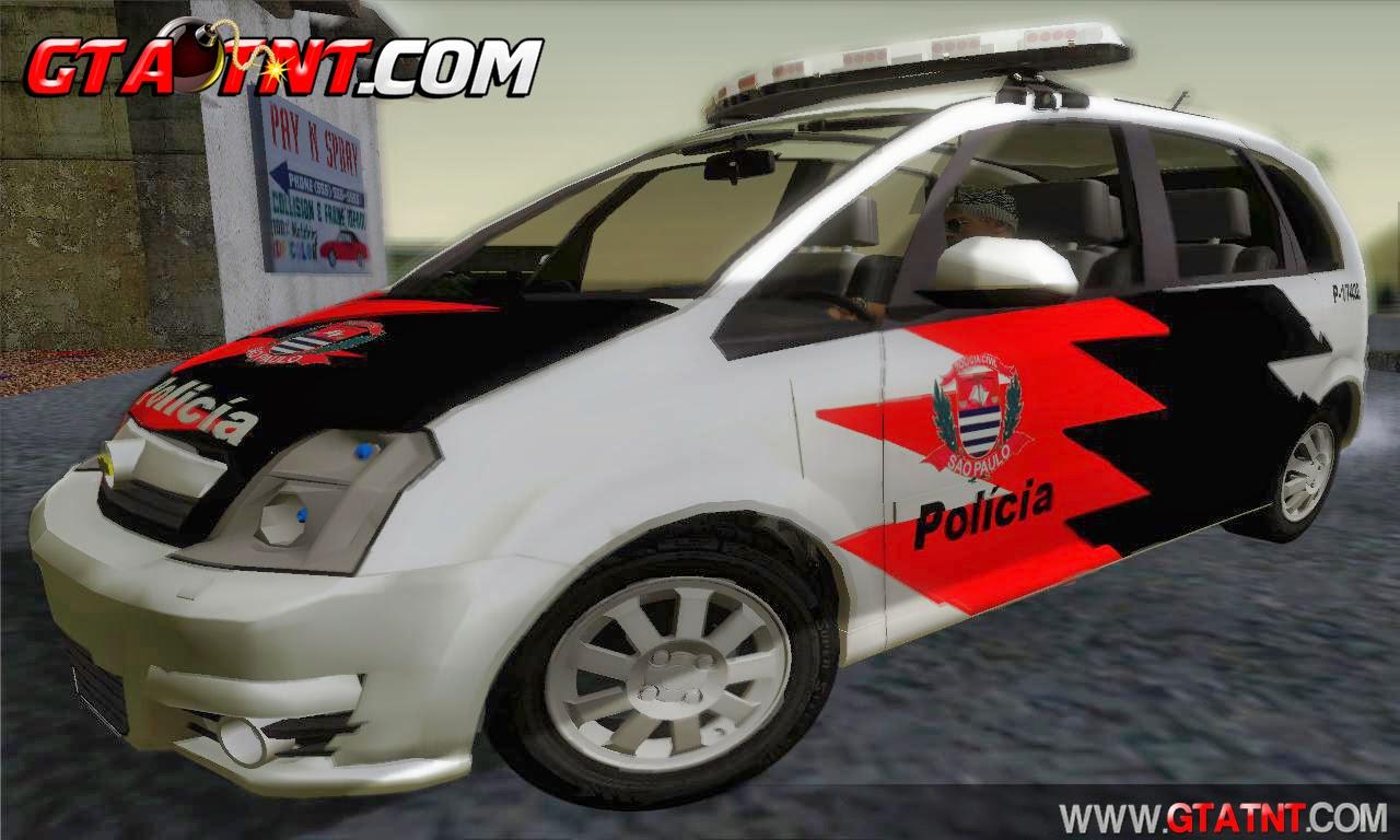 Chevrolet Meriva Polícia SP para GTA San Andreas