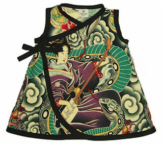 Punk / Rockabilly Zen Charmer  Baby or Toddler Dress by Baby Rebellion